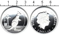 Изображение Монеты Австралия 1 доллар 2012 Серебро Proof Кенгуру. Питфорт