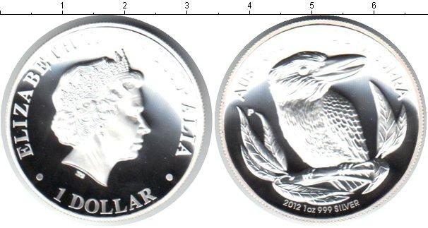 Картинка Монеты Австралия 1 доллар Серебро 2012