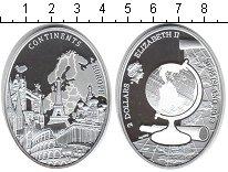 Изображение Монеты Ниуэ 2 доллара 2013 Серебро Proof Континенты. Европа