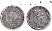 Изображение Монеты Италия 1 лира 1863 Серебро XF Витторио Имануил II.
