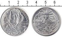 Изображение Монеты Италия 1000 лир 1998 Серебро UNC- Бернини