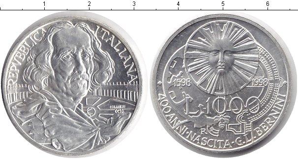 Картинка Монеты Италия 1.000 лир Серебро 1998