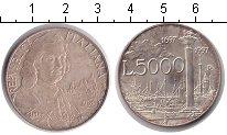 Изображение Монеты Италия 5000 лир 1997 Серебро UNC-