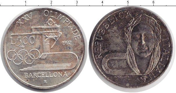 Картинка Монеты Италия 500 лир  1992