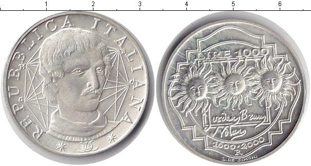 Картинка Монеты Италия 1.000 лир Серебро 2000