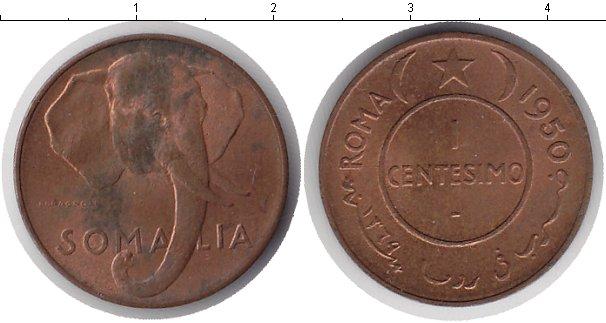 Картинка Монеты Сомали 1 сентесимо Медь 1950