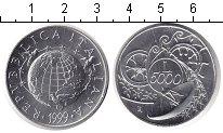 Изображение Монеты Италия 5000 лир 1999 Серебро UNC-