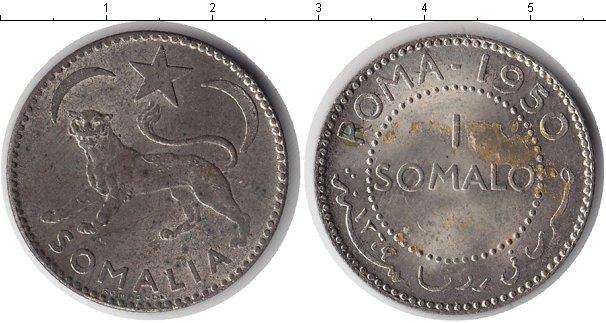 Картинка Монеты Сомали 1 сомало Серебро 1950