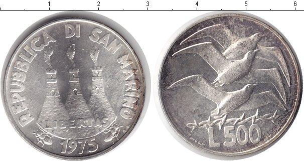 Картинка Монеты Сан-Марино 500 лир Серебро 1975