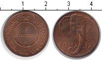 Изображение Монеты Сомали 1 сентесимо 1950 Медь UNC- Слон.