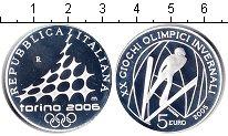 Изображение Монеты Италия 5 евро 2005 Серебро Proof- Олимпийские игры Тур
