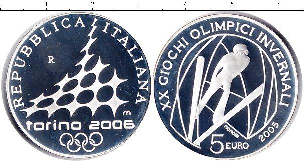 Картинка Монеты Италия 5 евро Серебро 2005