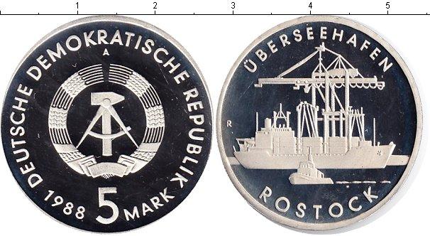 Картинка Монеты ГДР 5 марок Медно-никель 1988