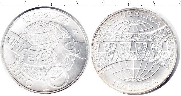 Картинка Монеты Италия 10 евро Серебро 2006