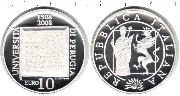 Картинка Монеты Италия 10 евро Серебро 2008