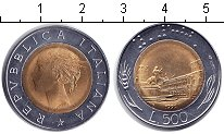 Изображение Мелочь Италия 500 лир 1991 Биметалл UNC
