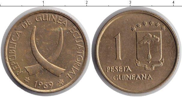 Картинка Мелочь Экваториальная Гвинея 1 песета Медь 1969