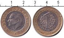 Изображение Дешевые монеты Турция 1 лира 2009