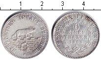 Изображение Монеты Анхальт-Бернбург 1/6 талера 1862 Серебро XF
