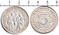 Изображение Монеты Веймарская республика 3 марки 1927 Серебро XF 1000-летие Нордхаузе