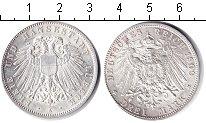 Изображение Монеты Любек 3 марки 1909 Серебро UNC-