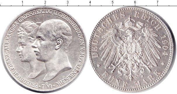 Картинка Монеты Мекленбург-Шверин 5 марок Серебро 1904