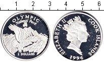 Изображение Монеты Острова Кука 2 доллара 1996 Серебро Proof-