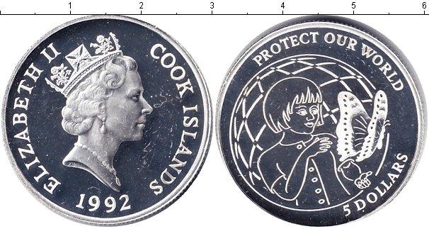 Картинка Монеты Острова Кука 5 долларов Серебро 1992