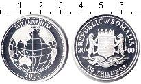 Изображение Монеты Сомали 150 шиллингов 2000 Серебро Proof Миллениум