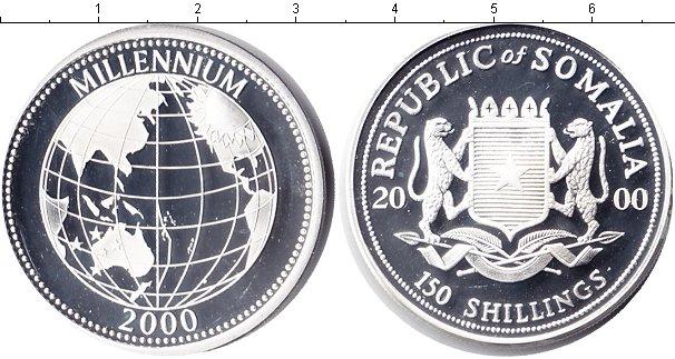 Картинка Монеты Сомали 150 шиллингов Серебро 2000