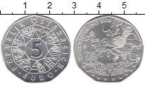 Изображение Мелочь Австрия 5 евро 2004 Серебро UNC- Расширение Евросоюза