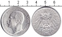 Изображение Монеты Гессен-Дармштадт 3 марки 1910 Серебро XF Эрнст Людвиг
