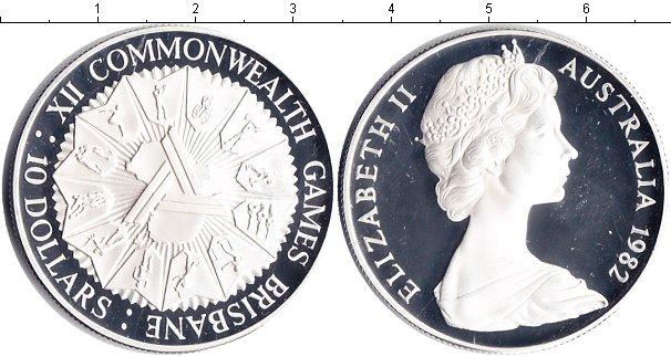Картинка Монеты Австралия 10 долларов Серебро 1982