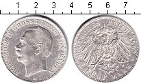 Изображение Монеты Баден 5 марок 1908 Серебро XF