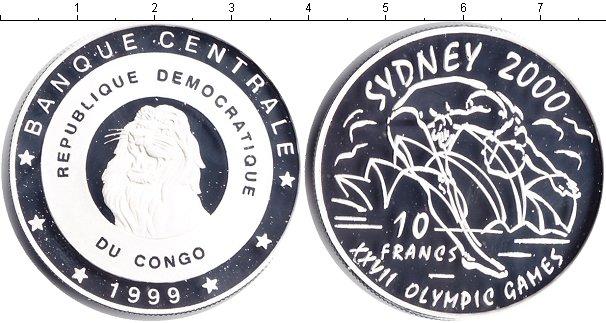 Картинка Монеты Конго 10 франков Серебро 1999