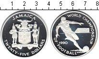 Изображение Монеты Ямайка 25 долларов 1990 Серебро Proof- FIFA 1990