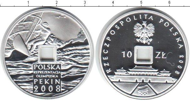 Картинка Монеты Польша 10 злотых Серебро 2008
