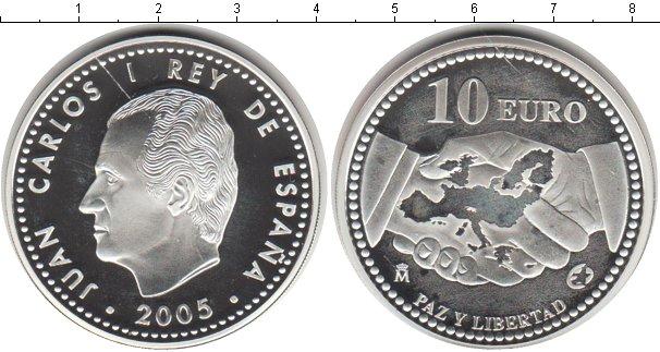 Картинка Монеты Испания 10 евро Серебро 2005