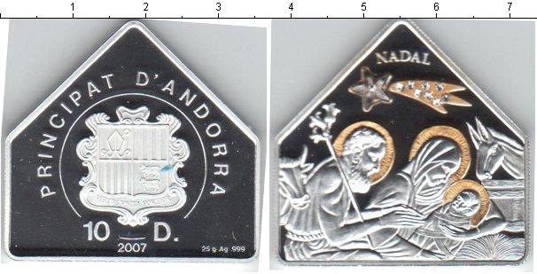 Картинка Монеты Андорра 10 динерс Серебро 2007