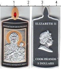 Изображение Монеты Острова Кука 5 долларов 2006 Серебро Proof- Елизавета II. Икона.