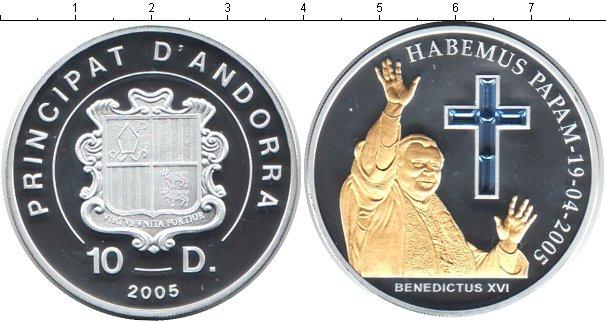 Картинка Монеты Андорра 10 динерс Серебро 2005