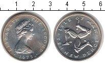 Изображение Монеты Остров Мэн 10 пенсов 1975 Серебро UNC Елизавета II