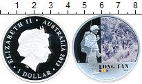 Изображение Монеты Австралия 1 доллар 2012 Серебро Proof Лонг Тан.