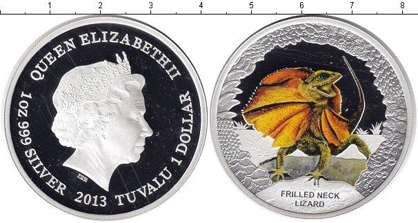 Картинка Монеты Тувалу 1 доллар Серебро 2013