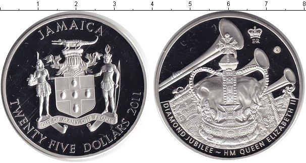 Картинка Монеты Ямайка 25 долларов Серебро 2011