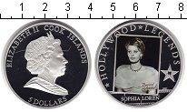 Изображение Монеты Острова Кука 5 долларов 2011 Серебро Proof Легенды Голливуда. С