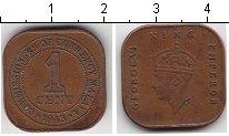Изображение Монеты Малайя 1 цент 1943 Медь XF Георг VI