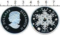 Изображение Монеты Канада 20 долларов 2013 Серебро Proof- Снежинка