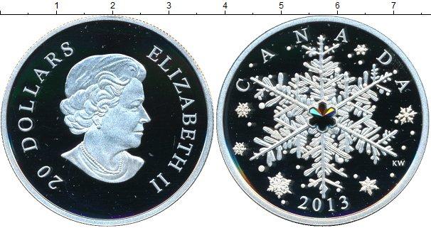 Картинка Монеты Канада 20 долларов Серебро 2013