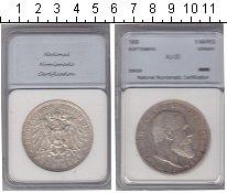 Изображение Монеты Вюртемберг 5 марок 1908 Серебро XF Вильгельм II